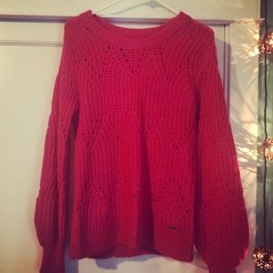 Brand New Abercrombie and Fitch Hot Pink Sweater